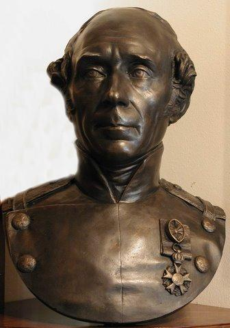 Buste en bronze de Dufour