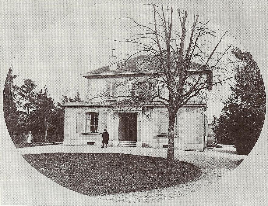 La maison du Général Dufour vers 1850