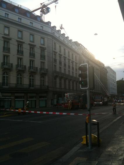 Le feu à l'Hôtel des Bergues (2)