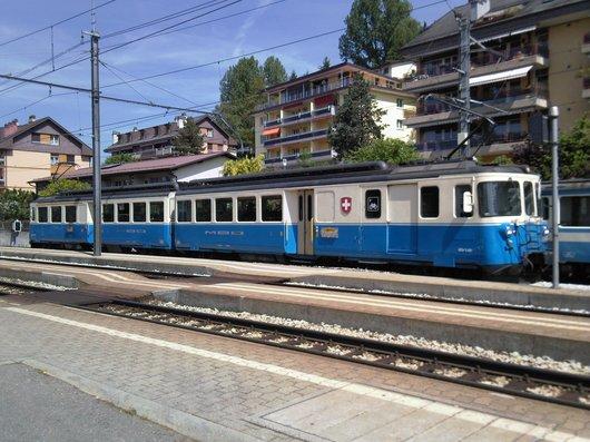MOB, gare de Chernex et Montreux