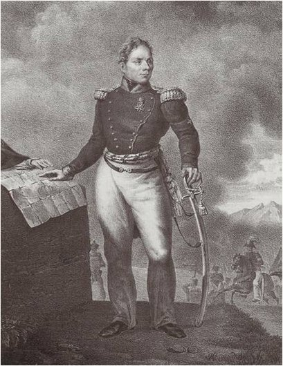 Guillaume Henri Dufour, par Franz Von Elgger (1834)