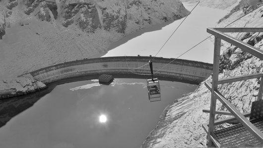 Le barrage de la Dixence vu depuis le couronnement de la Grande-Dixence