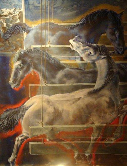 Les chevaux en stalle