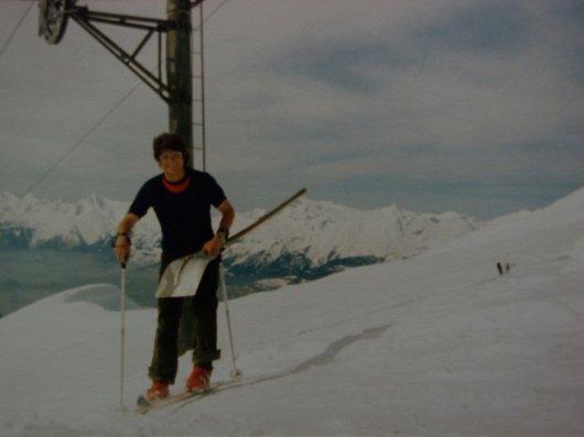 Pistard inconnu au sommet de l'Illhorn - Chandolin
