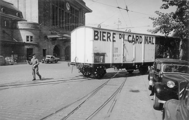 Lausanne Gare CFF, Transit d'un wagon-marchandise