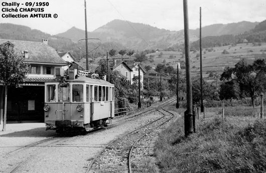 Le tram CCB à Chailly