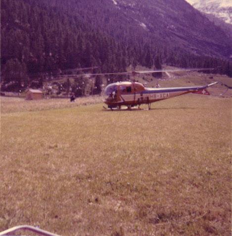 Hélicoptère de sauvetage GASS, en 1966