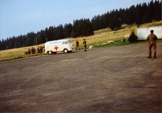 Ecole de recrues, ER inf. 202, comp. III, sect. 3, Grandes Pradières/NE 1983