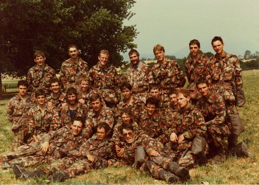 Ecole de recrues, ER inf. 202, comp. III, sect. 3, Colombier/NE 1983