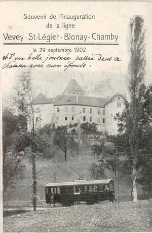 Souvenir de l'inauguration de la ligne Vevey-St-Légier-Blonay-Chamby