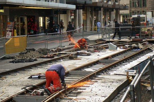 Nouvelle ligne de  tramways, à Genève