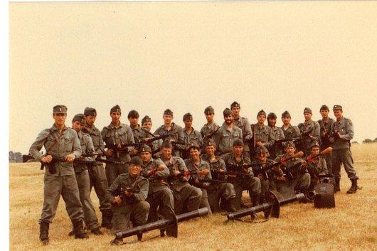 Ecole de recrues, ER inf. 202, comp. III, sect. 3, Colombier/NE 1983, tenue bleue