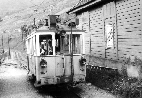Le tram CCB à Fontanivent