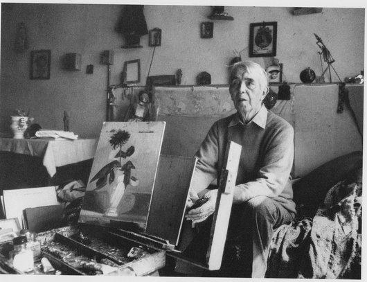 Albert Chavaz dans son atelier à Savièse Valais