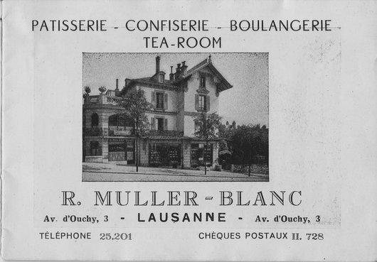 Publicité Tea Room de mes grands parents av. d' Ouchy  à Lausanne