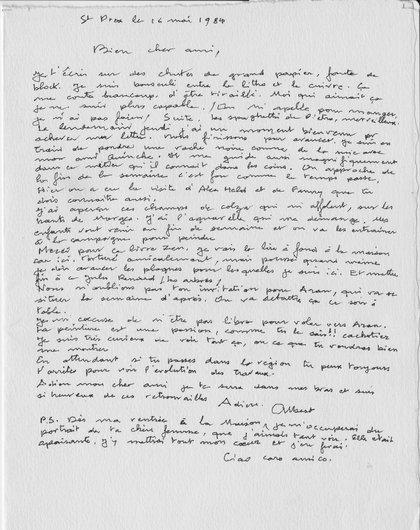 Lettre d'Albert Chavaz à Victor Desarzens