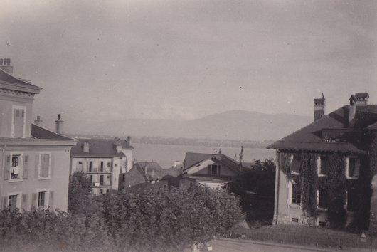 Le lac et les alpes, Versoix, 1945