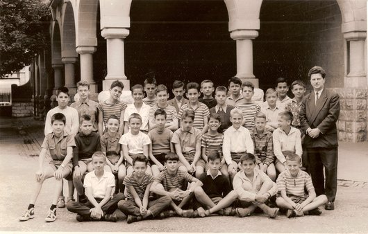 Classe de 6e primaire M. Brustlein 1960