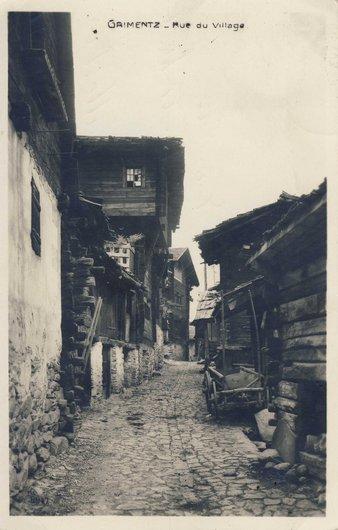 Grimentz, rue du village
