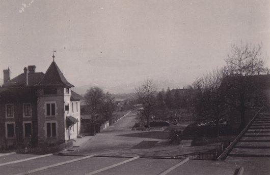 La poste et les alpes, Versoix, 1945