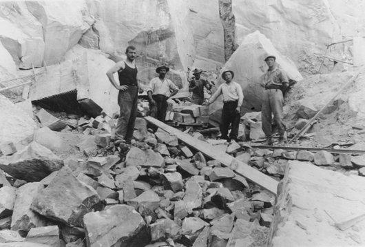 Carrière de Val d'Illiez vers 1925