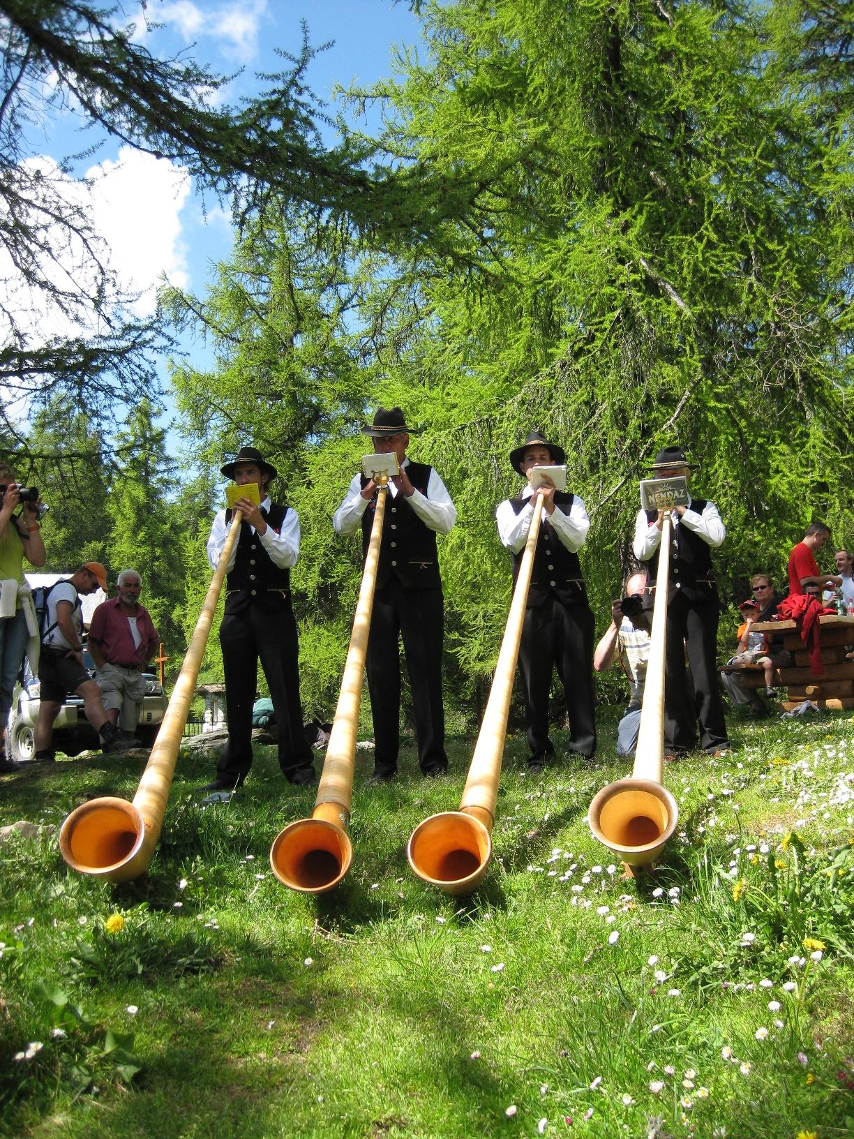 Joueurs de cor des Alpes