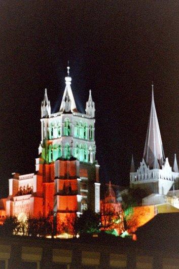 Lausanne, la cathédrale la nuit
