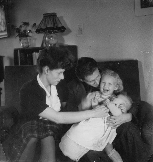 Victor et Louky, ma soeur Isabelle dans mes bras