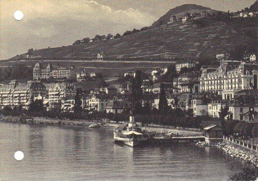 Montreux et Chernex vus du Léman