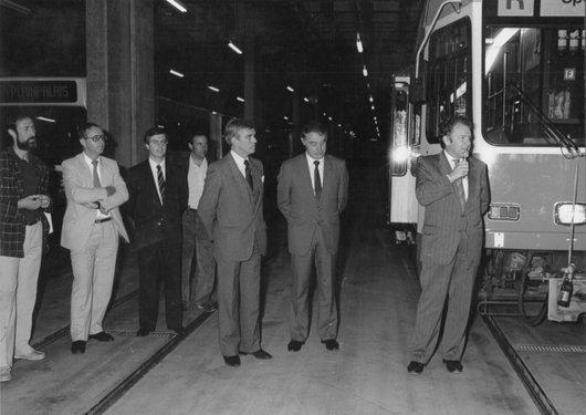 Inauguration tram Bellevue 1988 01