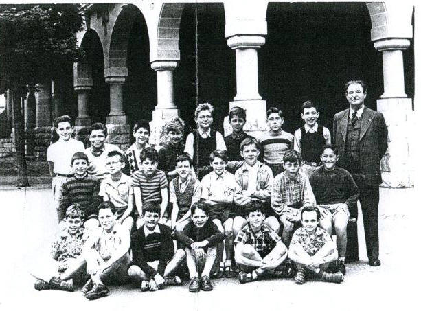 Ecole des Eaux-Vives, classe de M. Bouvier 1952