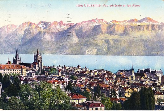 Lausanne vue générale des Alpes