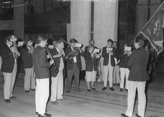 Inauguration tram Bellevue 1988 fanfare