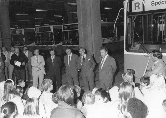 Inauguration tram Bellevue 1988 05