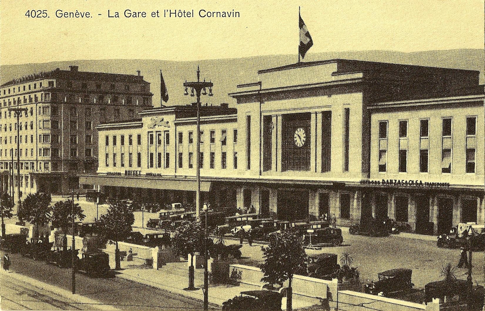 La Gare et l'Hôtel Cornavin