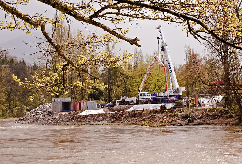 Genève, début de construction du CEVA.