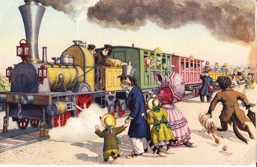 Les chats prennent le train.....