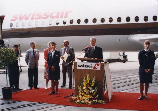 Inauguration Fokker 100 Bellevue Swissair 002