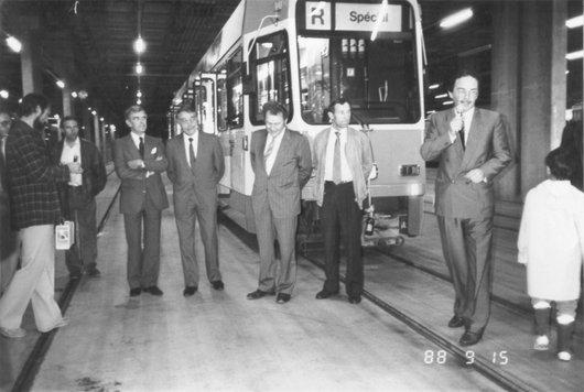 Inauguration tram Bellevue 1988 09