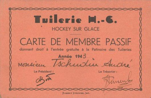 Carte membre passif HC Tuileries Bellevue