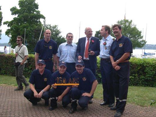 150 ans pompiers de Bellevue Couchepin
