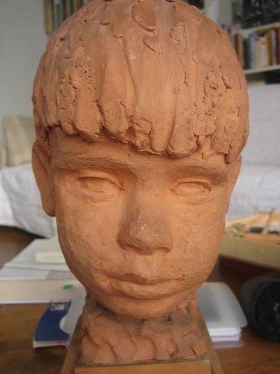 Madeleine Otth-Lazard, sculpteur; la tête de mon frère  Jean-Marie Desarzens