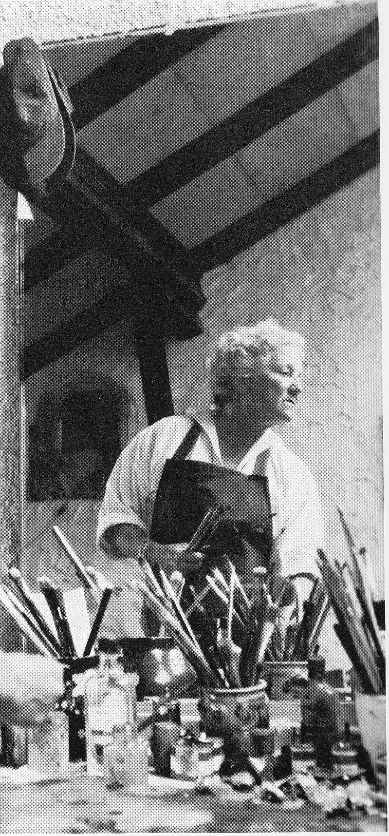 Lélo Fiaux dans son atelier à Saint-Saphorin