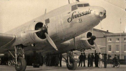 Un DC-2 de Swissair