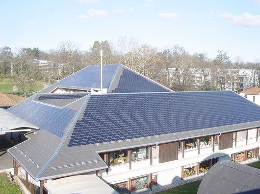 Toiture photovoltaïque école Bellevue
