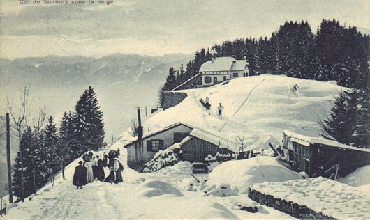Sonloup, l'hiver avant la construction de l'hôtel