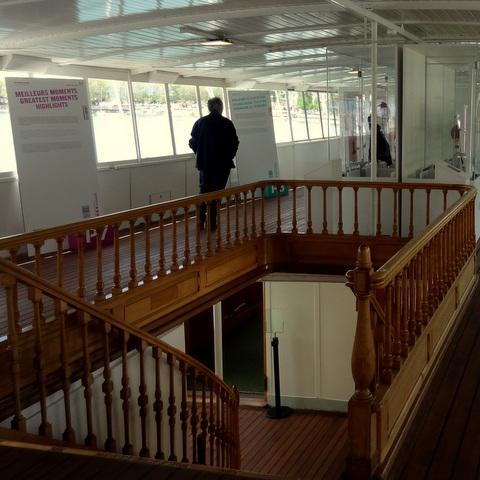 Le Musée Olympique embarque sur le vapeur «Helvétie»