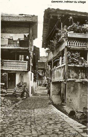 Grimentz, intérieur du village