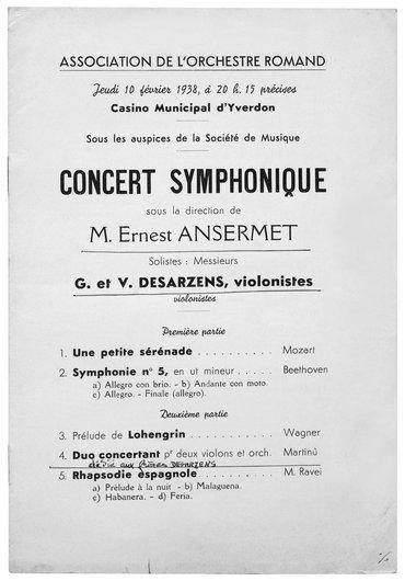 Les frères violonistes en concert a Yverdon