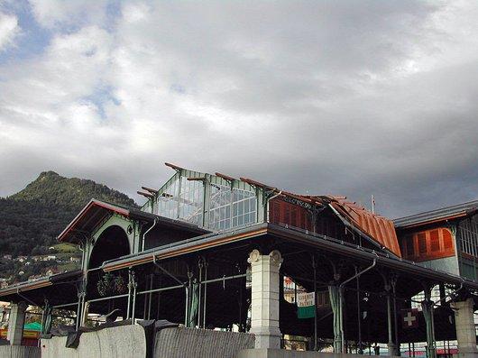 Le Marché couvert de Montreux après la tempête